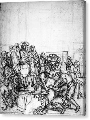 Louis Xiv (1638-1715) Canvas Print by Granger
