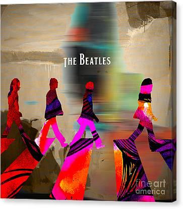 Celebrity Canvas Print - The Beatles by Marvin Blaine