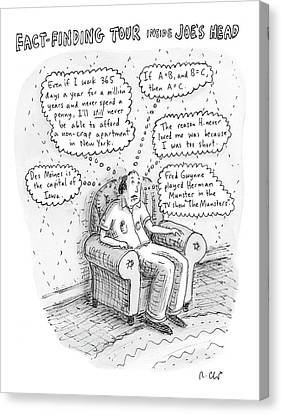 Brain Canvas Print - New Yorker March 3rd, 2008 by Roz Chast