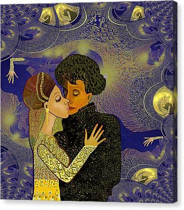 314 - Golden Dancing   Canvas Print by Irmgard Schoendorf Welch
