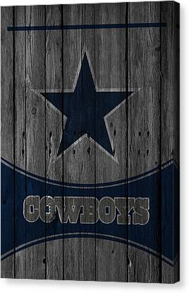 Football Canvas Print - Dallas Cowboys by Joe Hamilton
