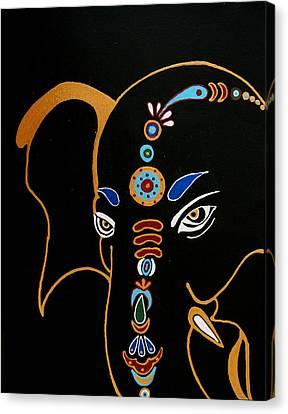 32 Gajakarna Ganesh Canvas Print