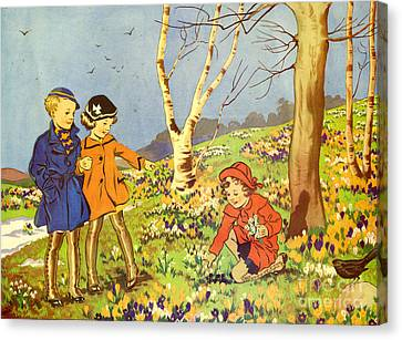 Infant School Illustrations 1950s Uk Canvas Print by The Advertising Archives