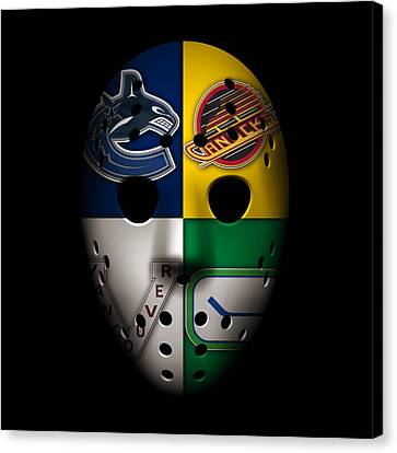 Goalie Canvas Print - Vancouver Canucks by Joe Hamilton