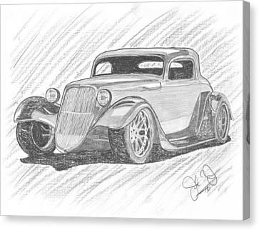 33 Hot Rod Canvas Print by John Jones