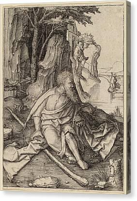 Saint Christopher Canvas Print - Lucas Van Leyden Netherlandish, 1489-1494 - 1533 by Quint Lox
