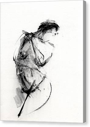 Woman Nude Canvas Print - Rcnpaintings.com by Chris N Rohrbach