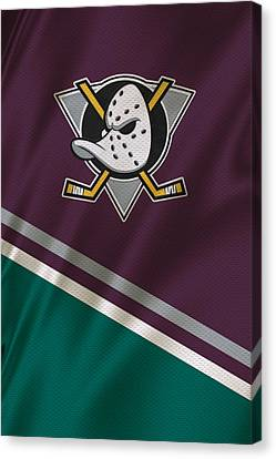 Skates Canvas Print - Anaheim Ducks by Joe Hamilton