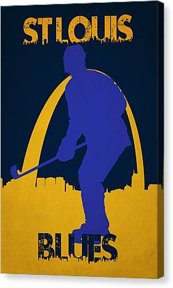 Skates Canvas Print - St Louis Blues by Joe Hamilton