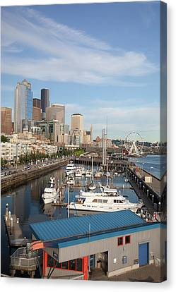 Wa Canvas Print - Wa, Seattle, The Seattle Great Wheel by Jamie and Judy Wild