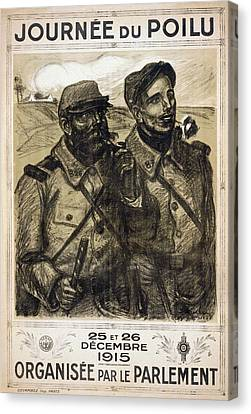 Infantryman Canvas Print - World War I French Poster by Granger