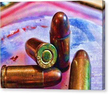 Bullet Art Color 3415 Canvas Print by Lesa Fine