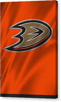 Skating Canvas Print - Anaheim Ducks by Joe Hamilton
