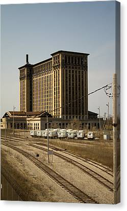 Michigan Central Station Canvas Print by Gary Marx