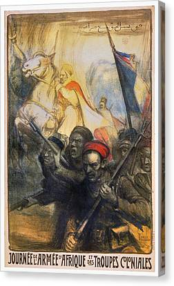World War I French Poster Canvas Print