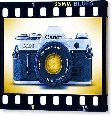 35mm Blues Canon Ae-1 Canvas Print