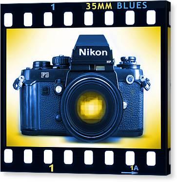 35mm Blues Nikon F-3hp Canvas Print by Mike McGlothlen