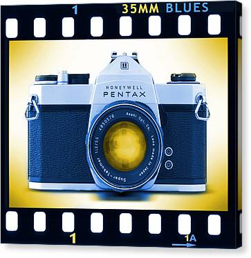 35mm Blues Pentax Spotmatic Canvas Print by Mike McGlothlen