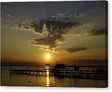 An Outer Banks Of North Carolina Sunset Canvas Print