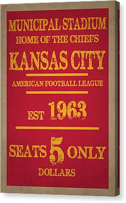 Kansas City Chiefs Canvas Print by Joe Hamilton
