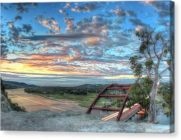 360 Bridge Canvas Print by Andrew Nourse