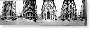 360 Degree View Of A City, Montreal Canvas Print by Panoramic Images