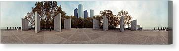 360 Degree View Of A War Memorial, East Canvas Print by Panoramic Images
