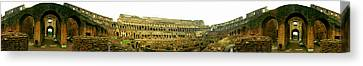 360 Degree View Of An Amphitheater Canvas Print