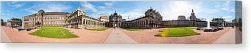 360 Degree View Of Zwinger Palace Canvas Print by Panoramic Images