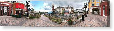 360 View Panorama, Mont-tremblant Canvas Print by Henry Lin