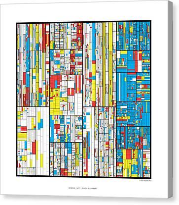 Pi Canvas Print - 3628 Digits Of Pi by Martin Krzywinski
