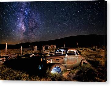 '37 Chevy And Milky Way Canvas Print by Cat Connor