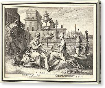 251 Canvas Print - Anonymous After Hendrick Goltzius Dutch by Litz Collection