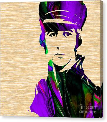 Drum Canvas Print - Ringo Starr Collection by Marvin Blaine