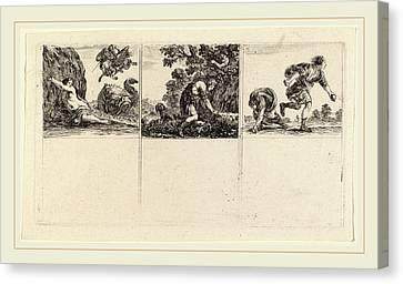 Stefano Della Bella Italian, 1610-1664 Canvas Print by Litz Collection