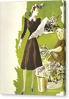 WomenÕs Fashion 1930s 1939 1930s Uk Canvas Print by The Advertising Archives