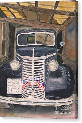 39 Chevy Canvas Print by Peggy Dickerson