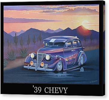 '39 Chevy Canvas Print by Stuart Swartz