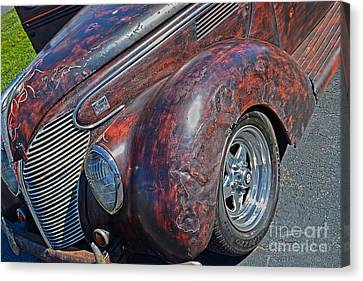39 Ford Pick Up Rusty Relic  Canvas Print by JW Hanley