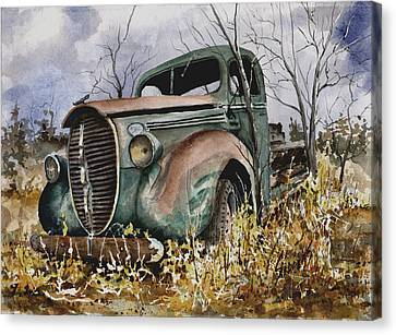 39 Ford Truck Canvas Print by Sam Sidders