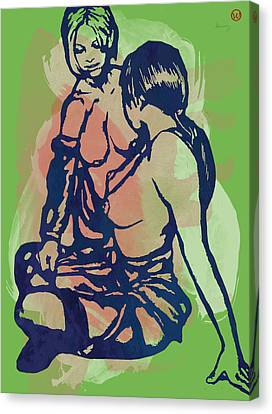Nude Pop Stylised Art Poster Canvas Print
