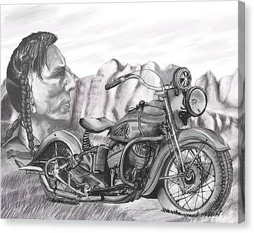 Canvas Print featuring the drawing 39 Scout by Terry Frederick