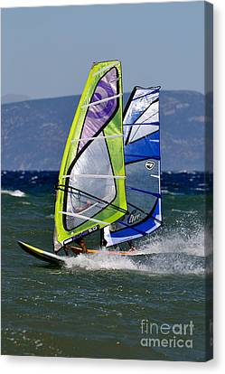 Windsurfing Canvas Print by George Atsametakis