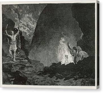White Gypsum Dunes Canvas Print