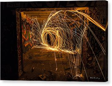 3d Fire Canvas Print by Bill Cantey