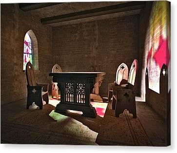 3d Gothic Room Canvas Print by Meir Ezrachi