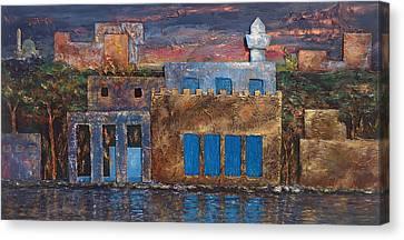 3d Village Canvas Print by Amani Al Hajeri