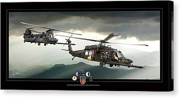 3rd Battalion Special Ops Canvas Print by Larry McManus