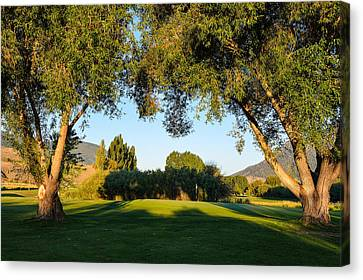 3rd Green At Quilchena  Canvas Print by Randy Giesbrecht