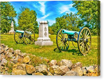 3rd Massachusetts Battery Gettysburg National Military Park Canvas Print by Bob and Nadine Johnston